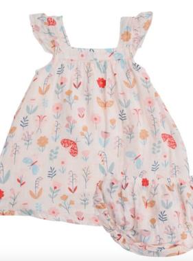 Angel Dear Butterfly Garden Sundress Petal Pink