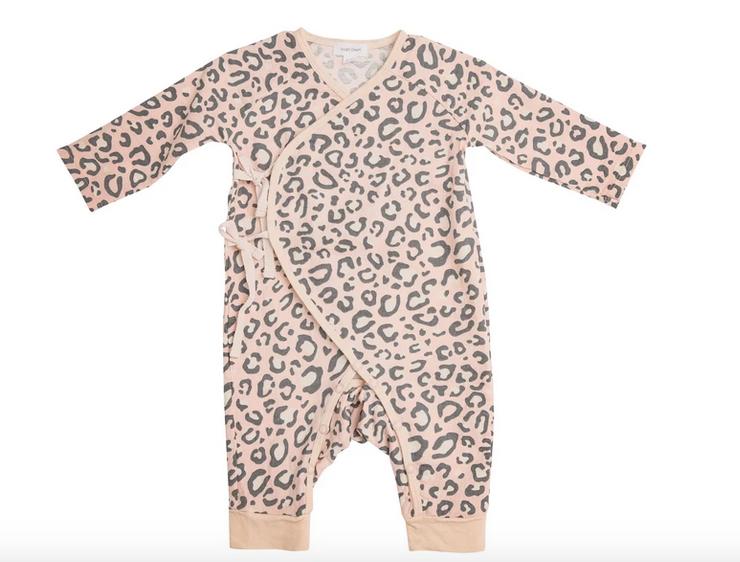 Angel Dear Leopard  Wrap Coverall Pink