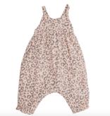Angel Dear Leopard  Tie Back Romper Pink
