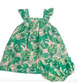 Angel Dear 1005S1TLP Tropical Leaves- Pink Ruffle Top/Bloomer