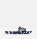 Joules Junior Poolside Slider, Blue Navy Shark
