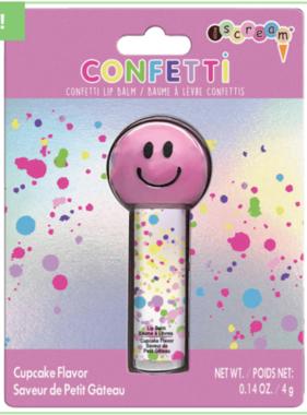Iscream 815-054 Confetti Smiley LIp Balm Strawberry