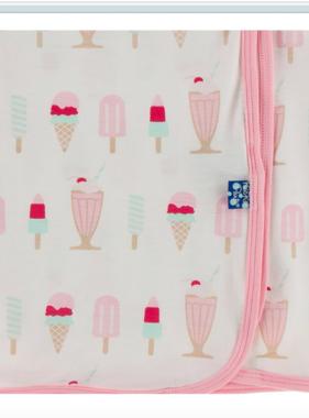 Kickee Pants Swaddling Blanket Natural Ice Cream Shop