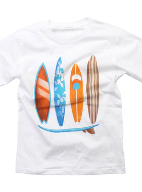 Wes And Willy Surf Boards SS Tee, White