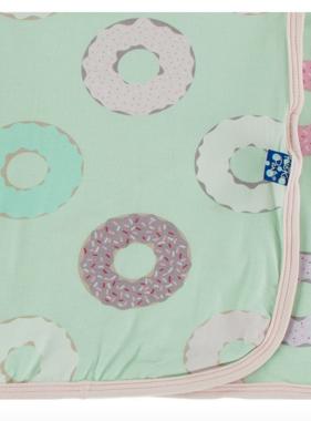 Kickee Pants Swaddling Blanket Pistachio Donuts