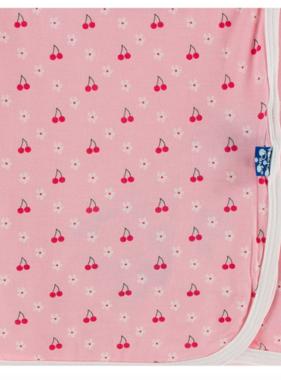 Kickee Pants Swaddling Blanket Lotus Cherries Blossoms