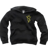 Wes And Willy Crown Fleece Hoodie, Black
