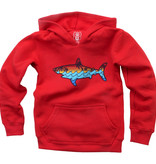Wes And Willy Shark Wave Fleece Hoodie, Cherry