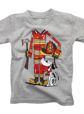 Wes And Willy Fire Fighter SS Tee, Heather