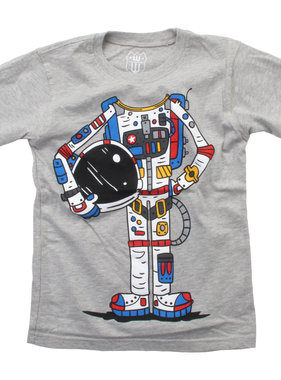Wes And Willy Astronaut SS Tee, Heather
