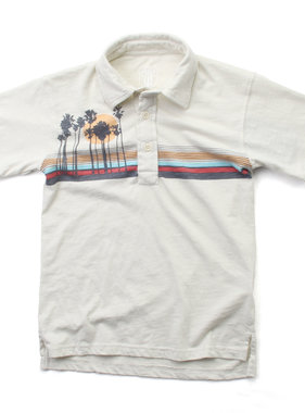 Wes And Willy Boys Island SS Polo, Stone