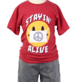 Wes And Willy 7717 1201 Smiley Mask SS Tee, Bullseye Red