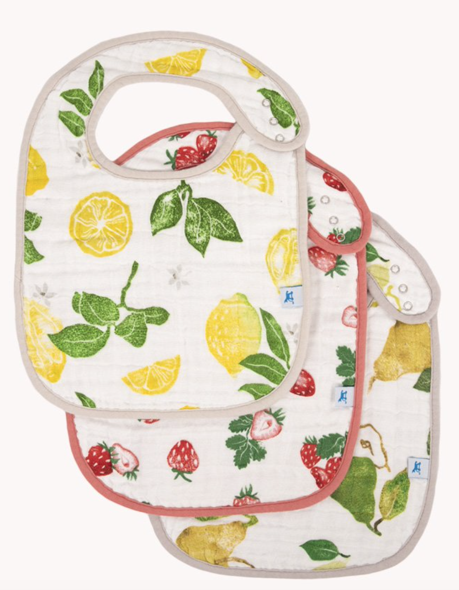 Little Unicorn Cotton Muslin Classic Bib 3 Pack - Fruit Stand