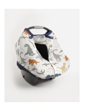 Little Unicorn Cotton Muslin Car Seat Canopy - Dino
