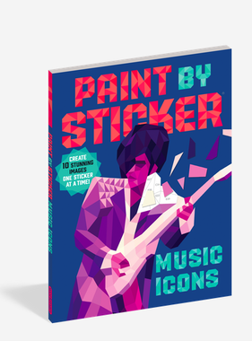 Workman Publishing Co Paint By Sticker: Music Icons