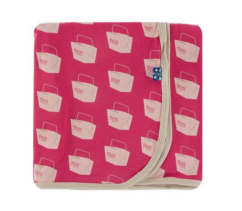 Kickee Pants Swaddling Blanket - Cherry Pie Takeout