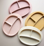 Three Hearts Silicone Plates Suction Bottom