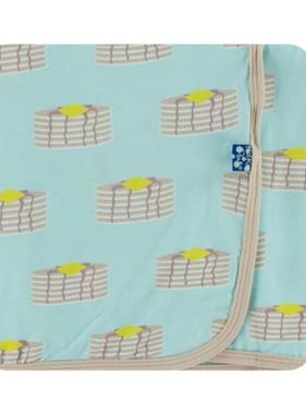 Kickee Pants Swaddling Blanket - Summer Sky Pancakes