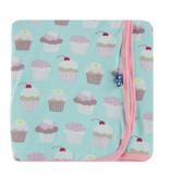 Kickee Pants Swaddling Blanket - Summer Sky Cupcakes