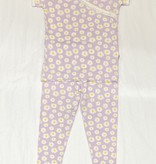 Kickee Pants Print SS Scallop Kimono PJ Set, Thistle Chamomile