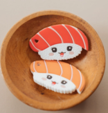 Three Hearts Sushi Silicone Teether