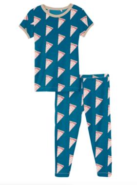Kickee Pants Print SS PJ Set, Seaport Pizza Slices