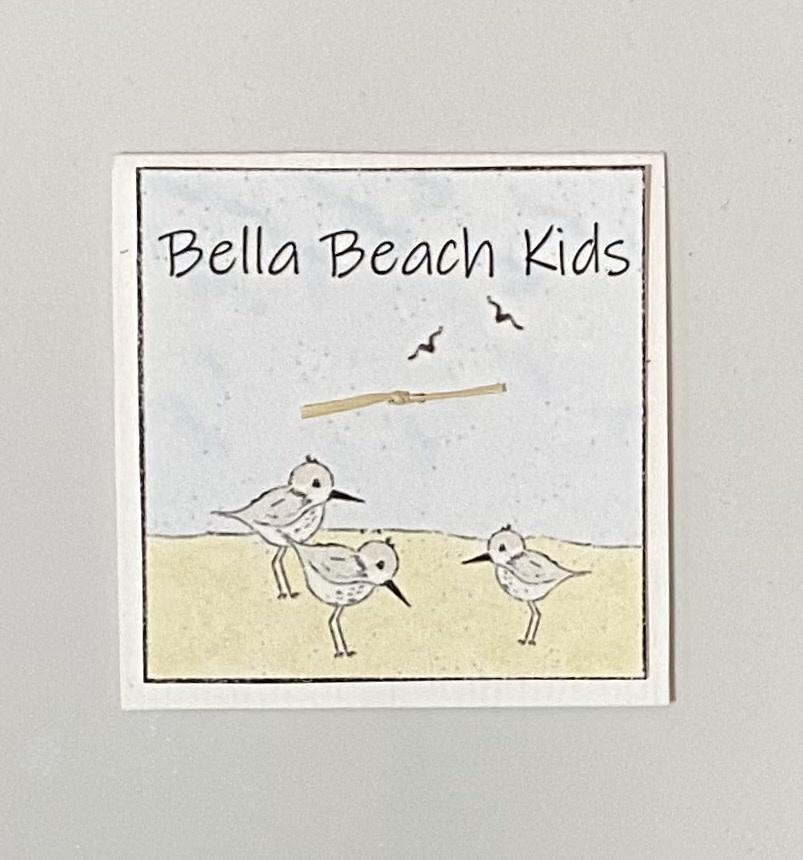 Bella Beach Kids Gift Card Enclosure Card - BBK Sandpipers