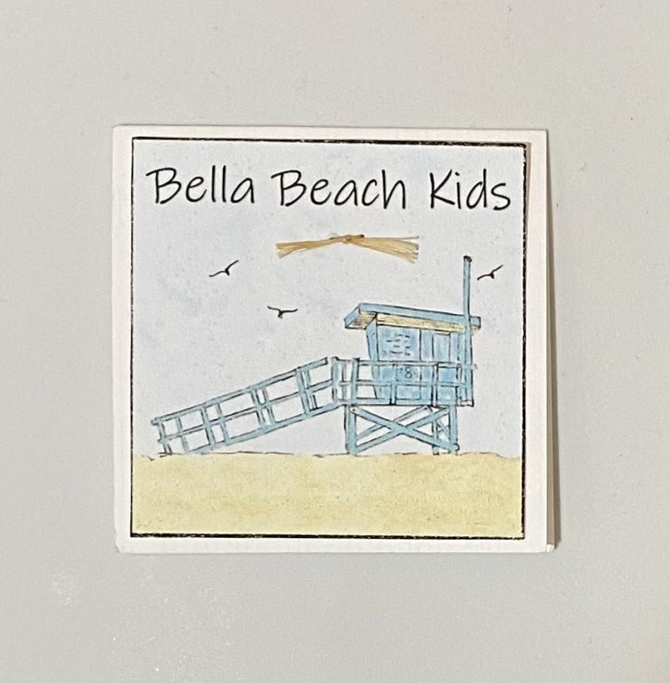 Bella Beach Kids Gift Card Enclosure Card - BBK Lifeguard Tower
