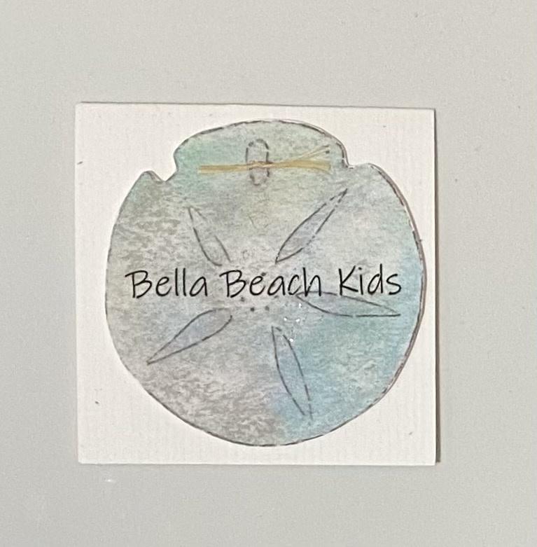 Bella Beach Kids Gift Card Enclosure Card - BBK Sand Dollar