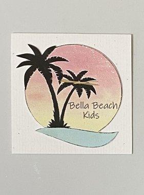 Bella Beach Kids Gift Card Enclosure Card - BBK Sunset Palm Trees