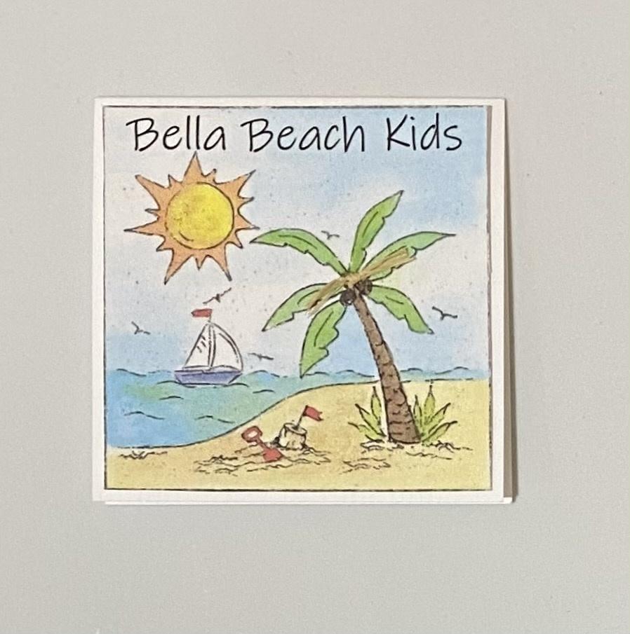 Bella Beach Kids Gift Card Enclosure Card - BBK Day At The Beach