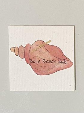 Bella Beach Kids Gift Card Enclosure Card - BBK Conch Shell