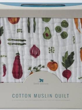 Little Unicorn Cotton Muslin Quilt - Farmers Market