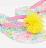 Joules 212688 JNR Flip Flop White Floral