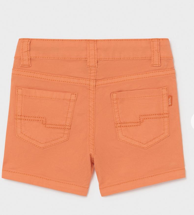 Mayoral 206 10 Basic 5 Pocket Twill Shorts, Apricot