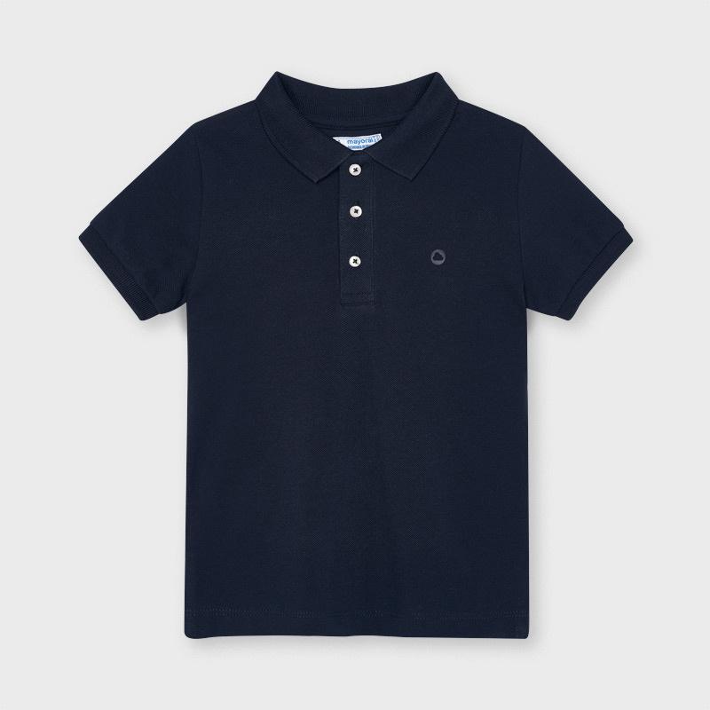 Mayoral 150 50 Basic S/S Polo, Navy Blue