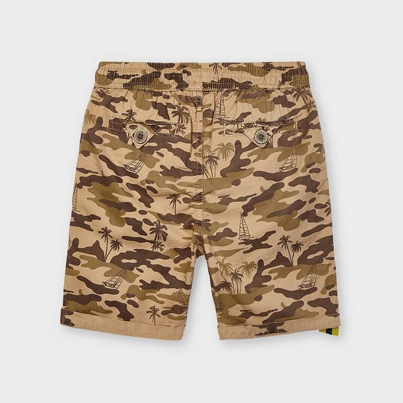 Mayoral 3236 025 Printed Shorts, Almond