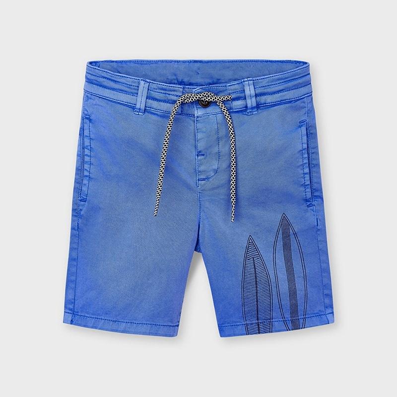 Mayoral 3226 03 Printed Shorts, Sky