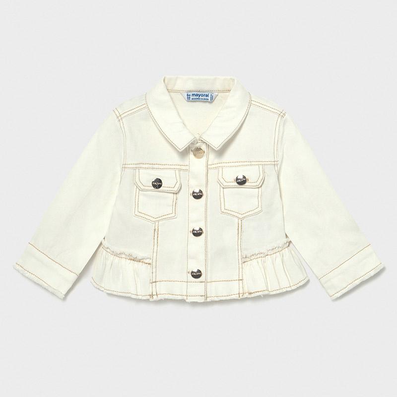 Mayoral 1483 090 Twill Jacket, Off White