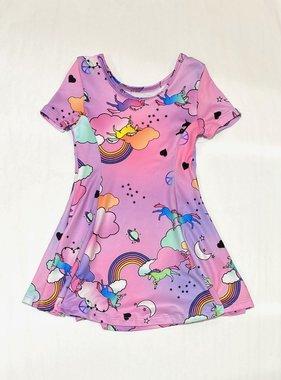 Social Butterfly S/S Dress Unicorns