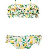 Snapper Rock Lemon Ruffle Bandeau Bikini 4/5