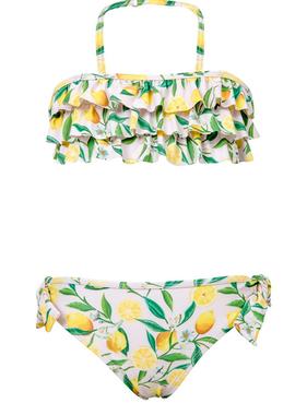 Lemon Ruffle Bandeau Bikini 4/5