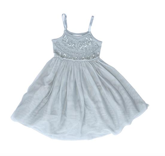 Mimi & Maggie Silver Frost Ballet Dress, Silver