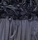 Mimi & Maggie 8456 Cluster Roses Dress, Dark Grey