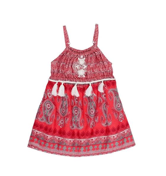 Mimi & Maggie 80170 Tassle Dress, Red