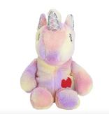 Novelty Purses Plushie Heart Unicorn Backpack, Pink