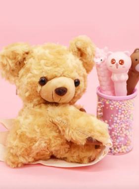 Novelty Purses Plushie Teddy Bear Sling Crossbody