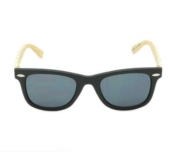 Hang Ten Black Rimmed/Wood Arm Baby Sunglasses HTK01CWC