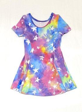 Social Butterfly 77490 S/S Fit Flare Tie Dye Stars