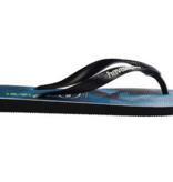 Havaianas Kids 4134832 Kids Top Duck Dive Sandal, Black/Blue